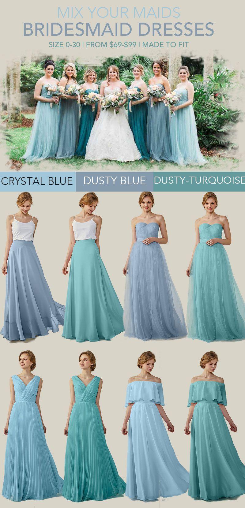 chiffon sweetheart bridesmaid dresses blue and green dresses