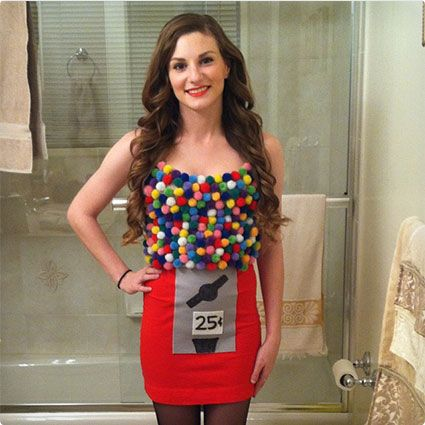 98 Quick and Easy DIY Halloween Costumes for 2016 Gumball machine - quick halloween costumes ideas