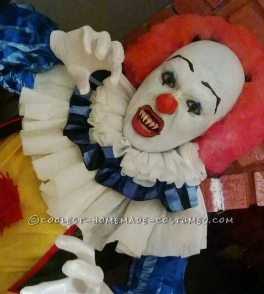 Cool Homemade Penny Wise Clown IT Costume… Coolest Online Halloween Costume Contest