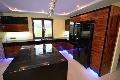 Kuchnia Palisander Wysoki Polysk Blaty Granitowe Star Galaxy Interior Deco House Interior