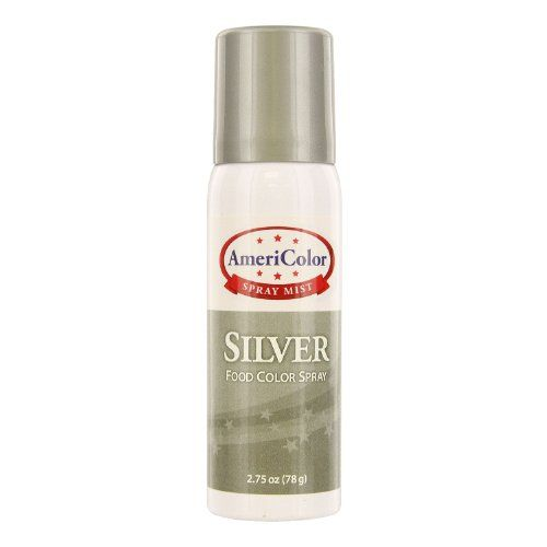 AmeriColor Food Colour Spray  Silver  2 oz >>> You can get additional details at the image link.