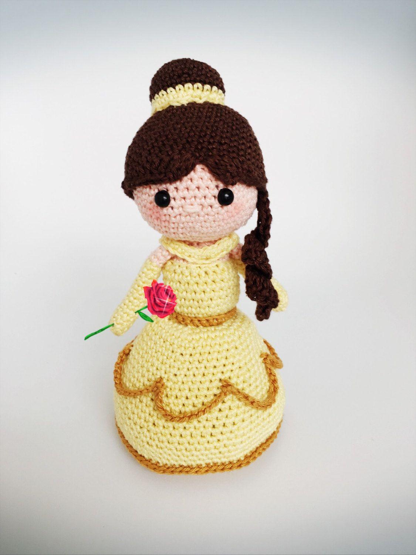 Belle Crochet Pdf Pattern English Princess Amigurumi Crochet