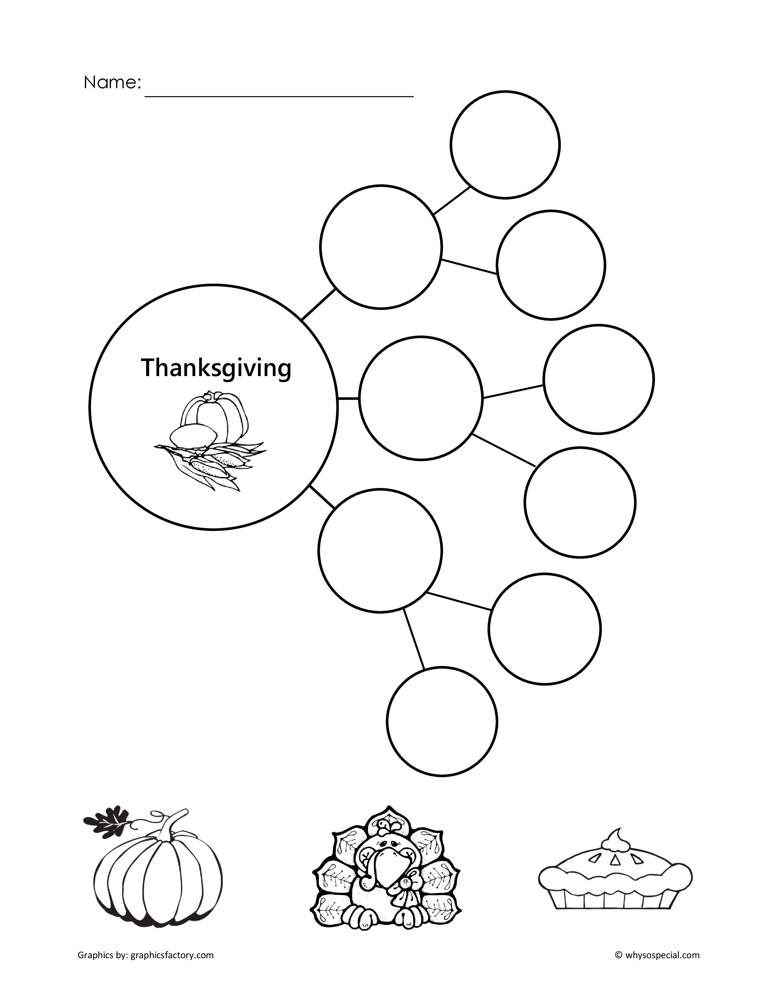 concept map for Thanksgiving | Carrie\'s WhySoSpecial Board | Pinterest