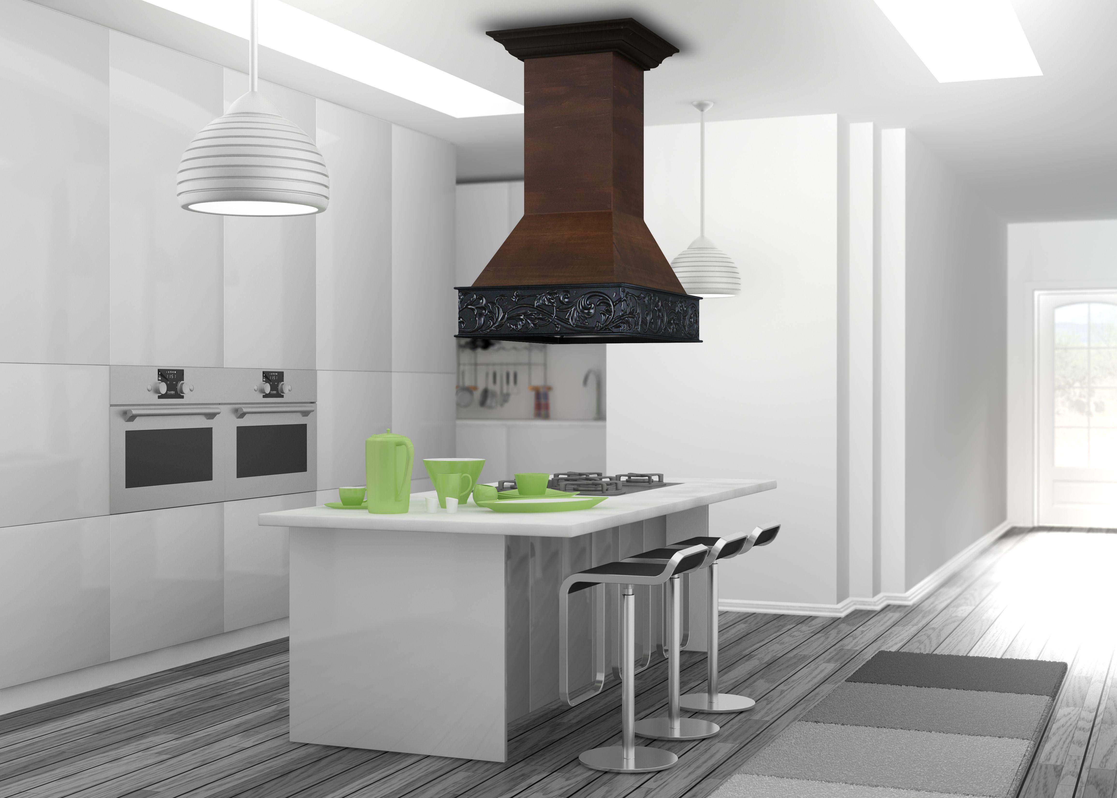"ZLINE 36"" Designer Series Wooden Island Range Hood with"