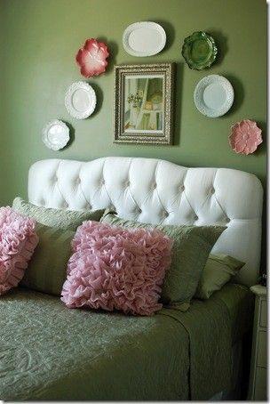 ❖ p i n k & g r e e n ♤ {that classic prep combo} | bedroom