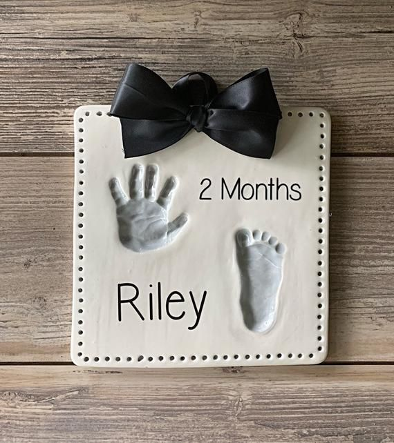 Blue Kid Handprint and Footprint Imprint Casting Kit,Perfect for Newborn Personalized Baby Shower Keepsake Gifts Air Drying Soft Baby Clay Dough