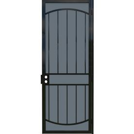 Gatehouse Gibraltar Black Steel Surface Mount Single Security Door Common 36 In X 96 In Actual 39 In X 97 75 In 918 With Images Security Door