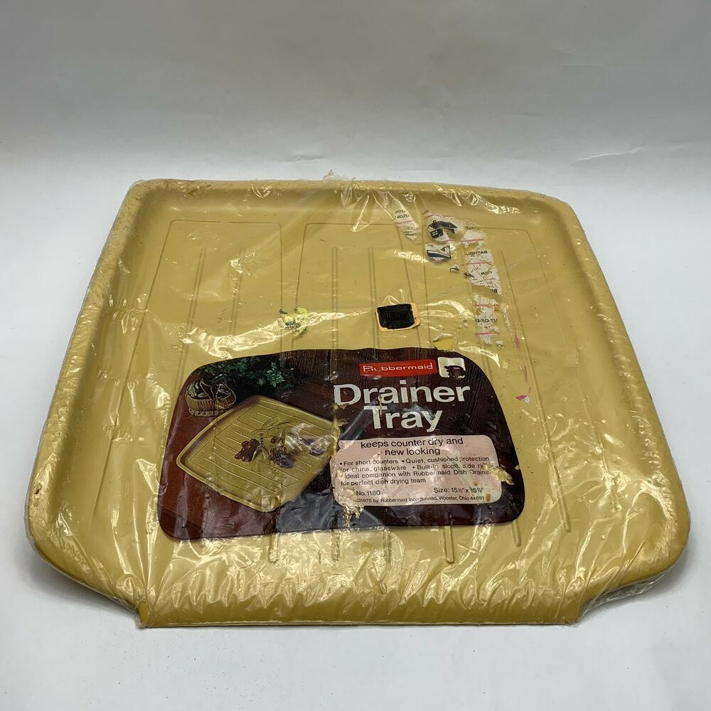 Vintage Rubbermaid Drain Board Mat Dish Drainer Draining Tray