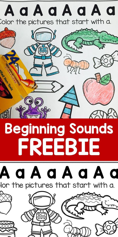 Beginning Sounds Worksheets Letter Sound Practice Free Sample Phonics Kindergarten Preschool Learning Preschool Letters