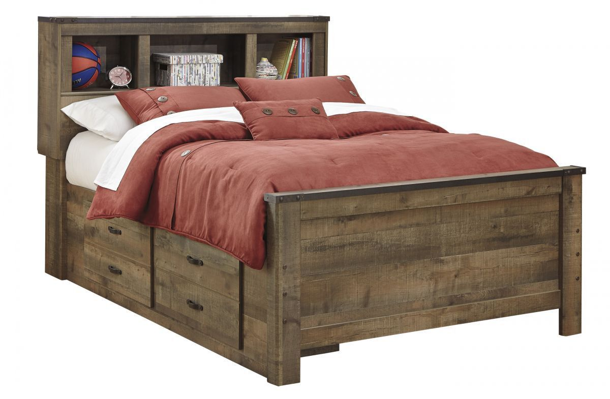 Trinell Full Size Bed Yatak odası, Yatak