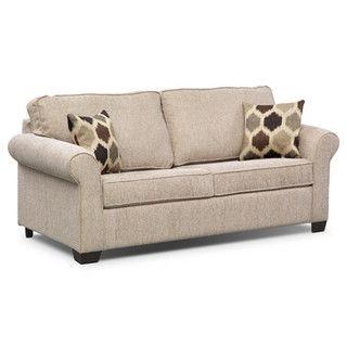Fletcher Full Memory Foam Sleeper Sofa   Beige