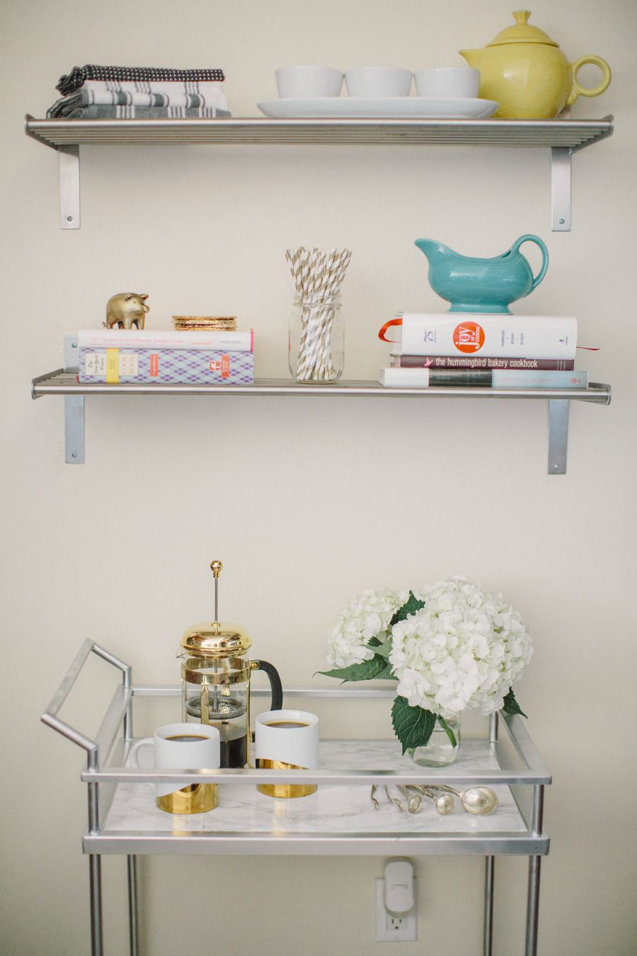 Glitter Inc. Home Tour | Coffee carts, Marbles and Bar carts