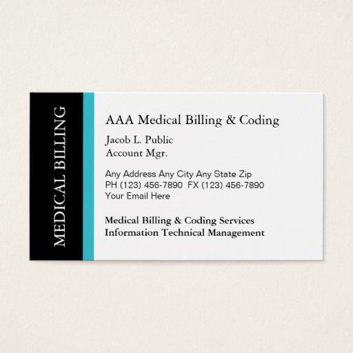 Medical Billing Coding Business Cards Zazzle Com Medical Billing And Coding Billing And Coding Medical Billing