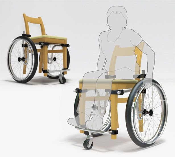 Turn a Normal Chair Into a Wheelchair with Wheel+Chair (via ...