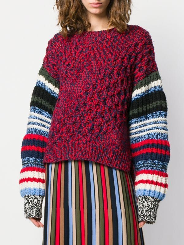 Sonia Rykiel Chunky Knit Jumper - Farfetch #chunkyknitjumper