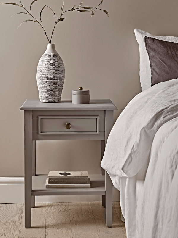 Camille Bedside Table Grey Bedside Table Grey Side Tables Bedroom Furniture Bedside Table