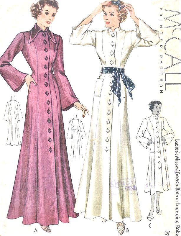1930s BEAUTIFUL Beach Coat, Bath Robe, Lounging Robe, Dressing Gown ...