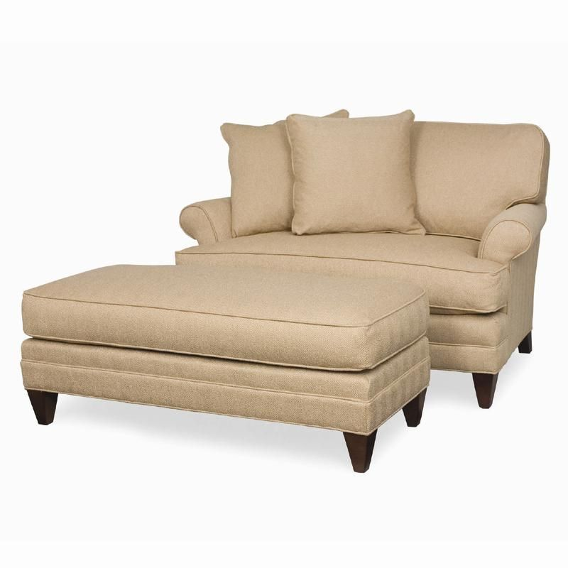 Best Klein Rolled Arm Chair And A Half Wide Ottoman With 400 x 300