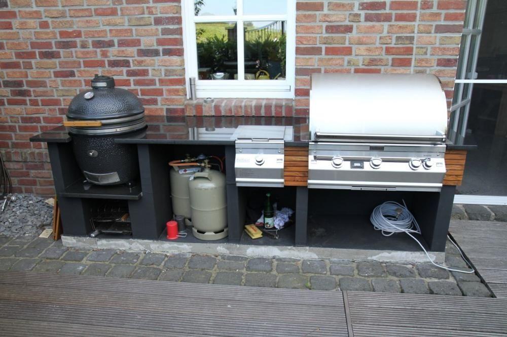Pin Von Natascha Auf Garten Outdoor Kuche Eingebauter Grill Und Gasgrill