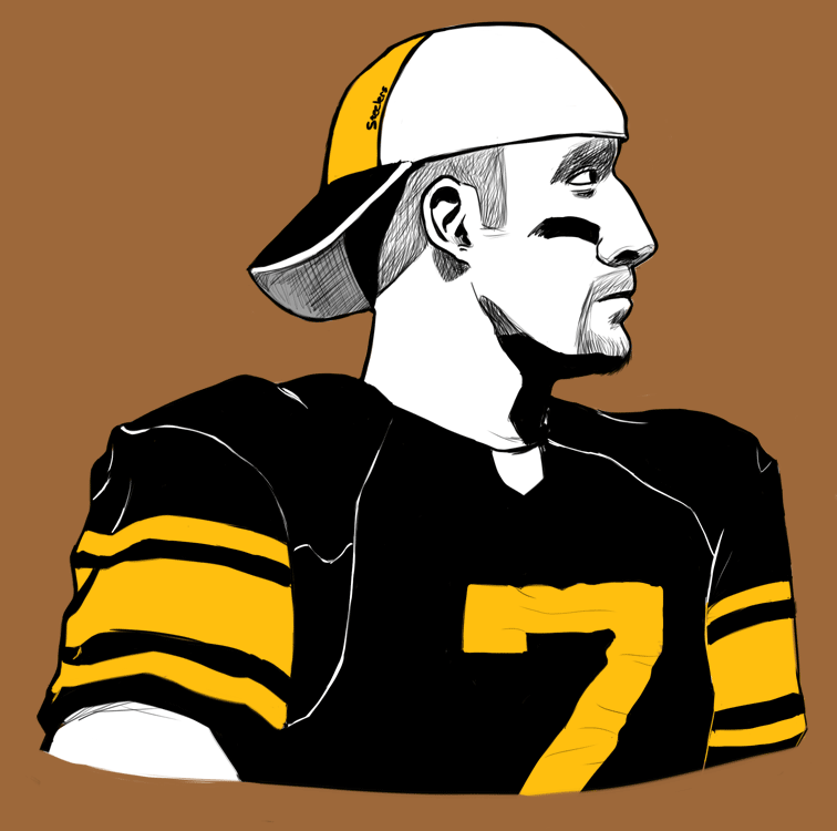 Daily Draw 6 Roethlisberger By Guezadilla On Deviantart Nfl History Daily Drawing Nfl Teams