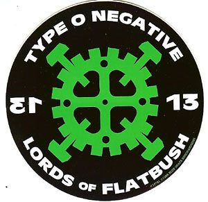 Type O Negative Vinyl Sticker Hammer Gear Logo Type O Negative Negativity Band Posters