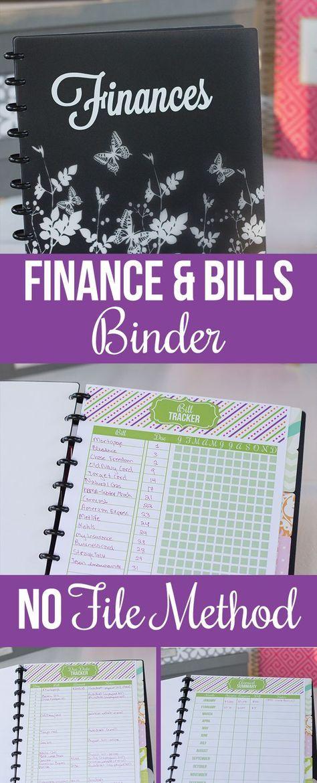 2015 Finance Binder Tour Bill pay, Binder and Organizing