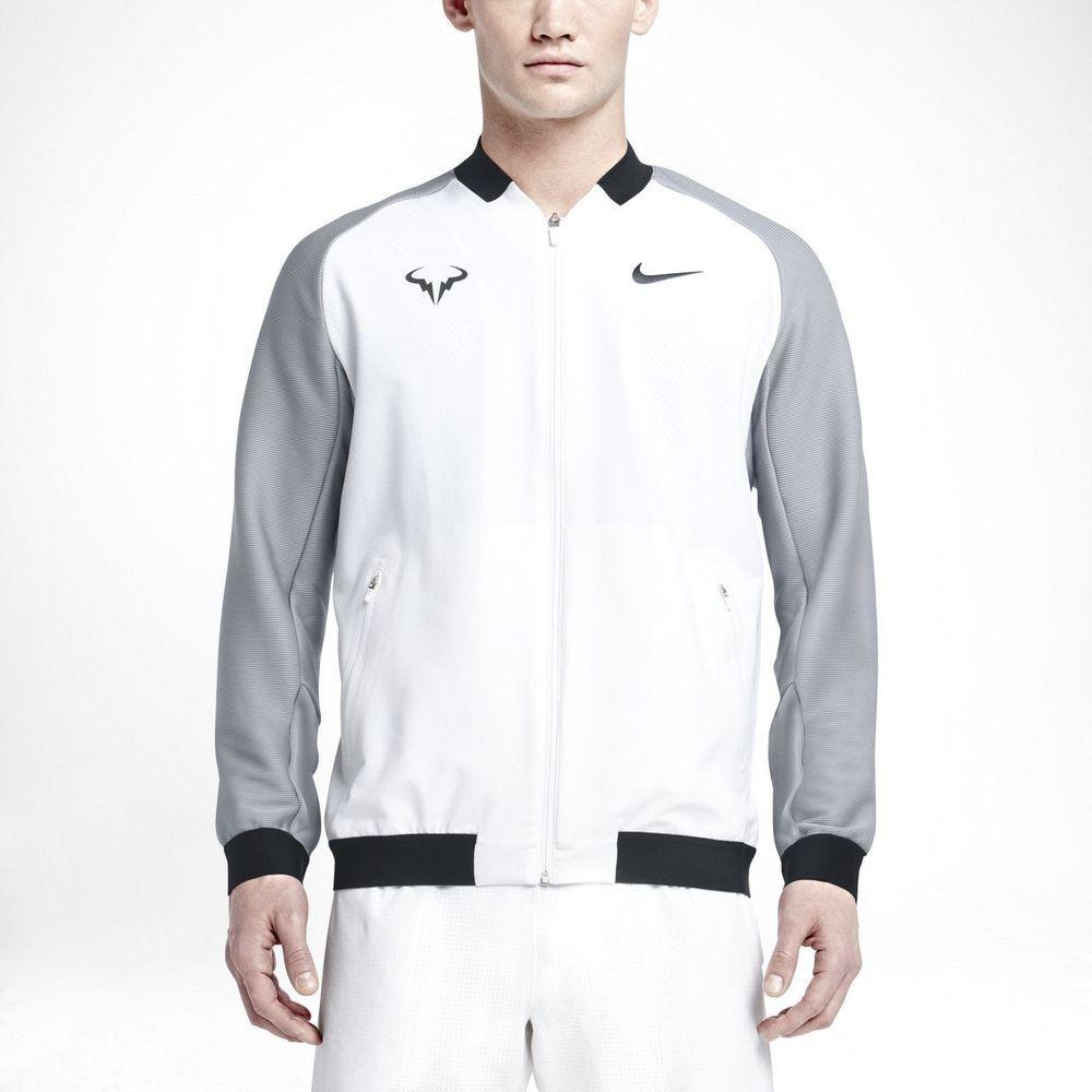 b3d1d5c0a1a9 Nike Premier Rafa Nadal Tennis Jacket Mens M White Grey Black  Nike  Jacket