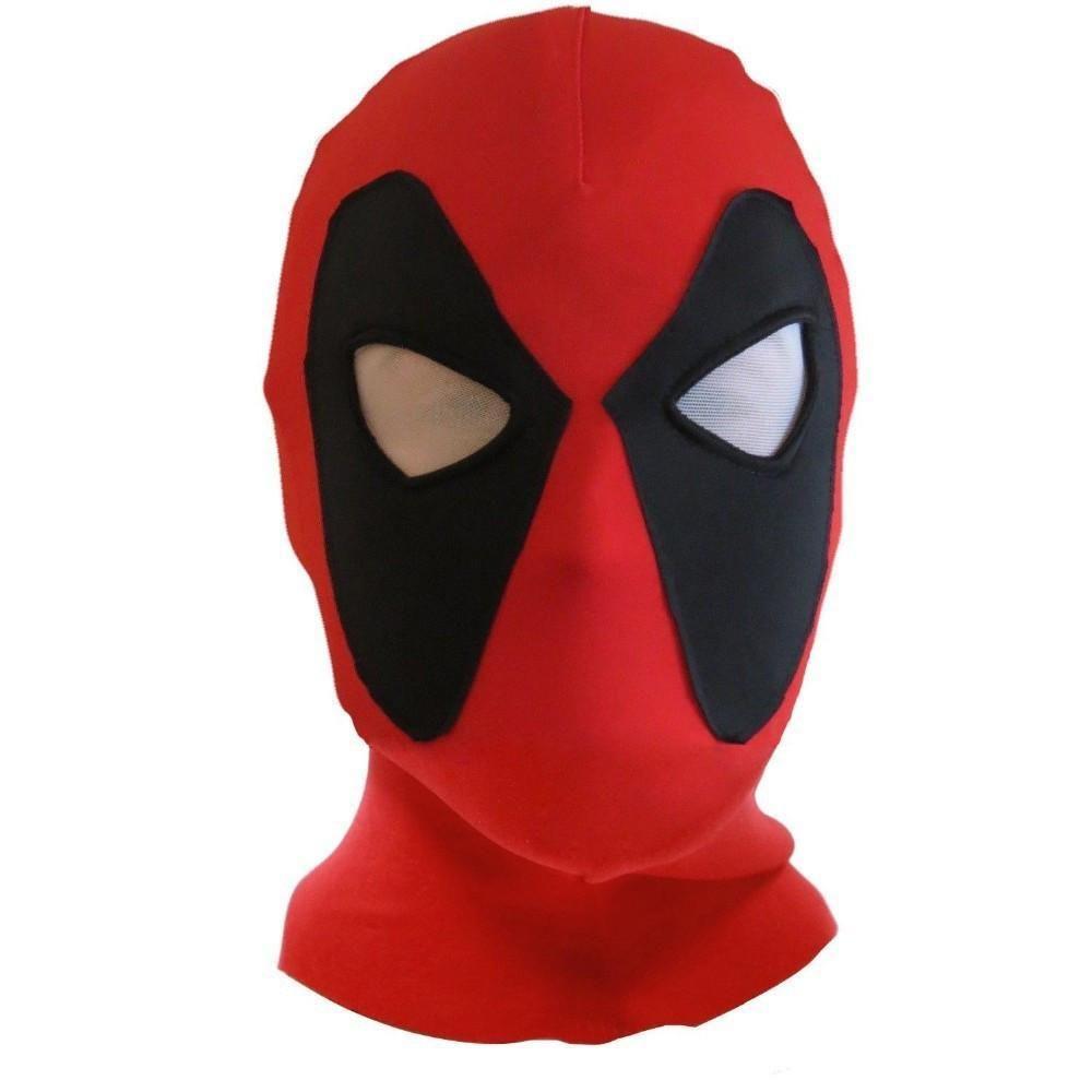 Rubies Costume Mens Deadpool Adult Overhead Fabric Mask Black,red