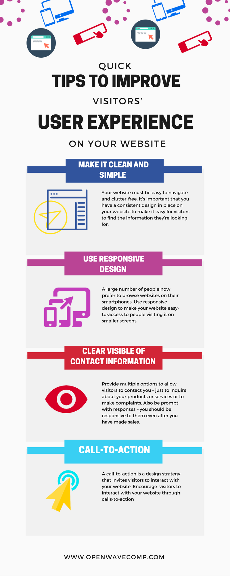 Tips to Improve Visitors User Experience on your Website