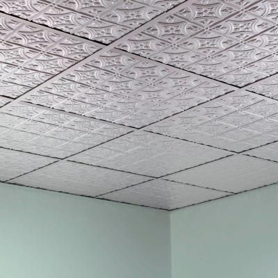 Traditional Ft X Ft Layin Ceiling Tile In Brushed - 1 x 2 ceiling tiles