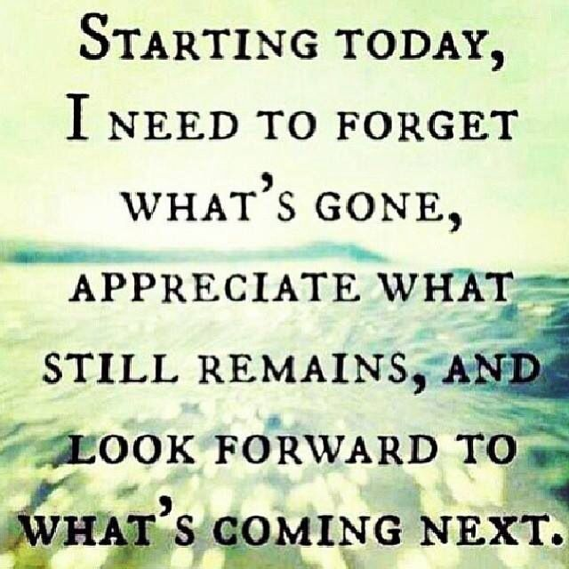 Forgetting The Past And Looking To The Future Quotes To Live By