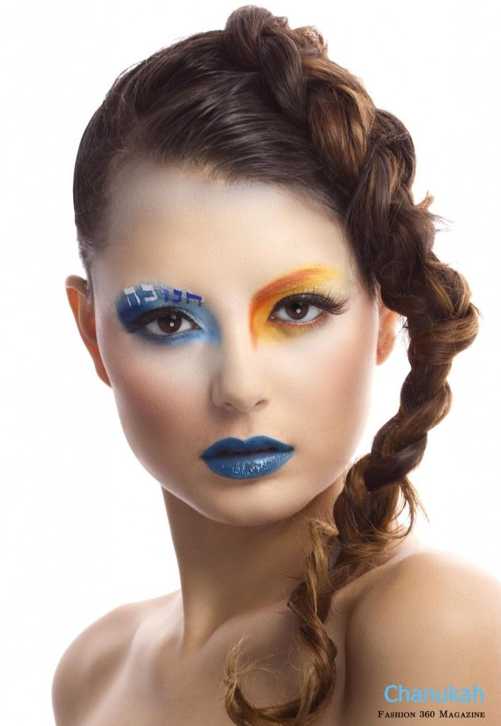 Creative Blue And Orange Beauty Look For Chanukah From 360 Magazine High Fashion Makeup Makeup Crazy Makeup