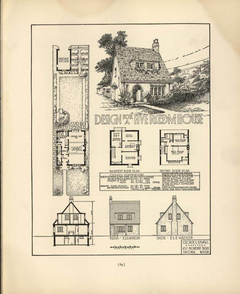 Pictures Of English Cottages From The 1920 S With Attached: Chicago Tribune Book Of Homes Small English Cottage Style