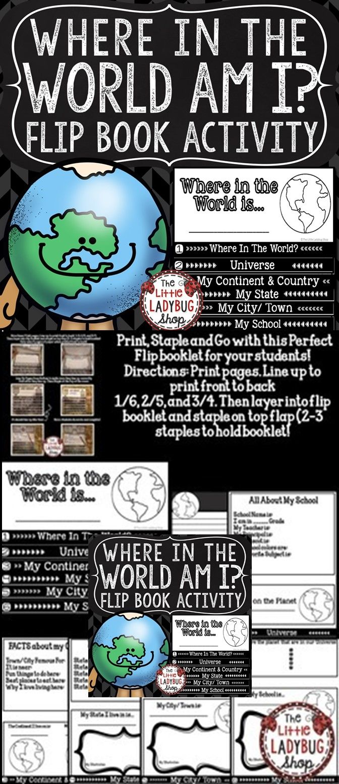 Map skills flip book and geography activity where in the world am i map skills flip book where in the world am i this interactive no cut gumiabroncs Images