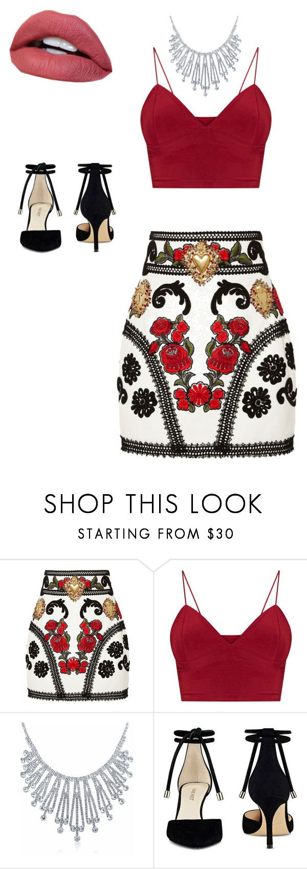 """Sin título #74"" by pilargabra on Polyvore featuring moda, Dolce&Gabbana, Bling Jewelry y Nine West"