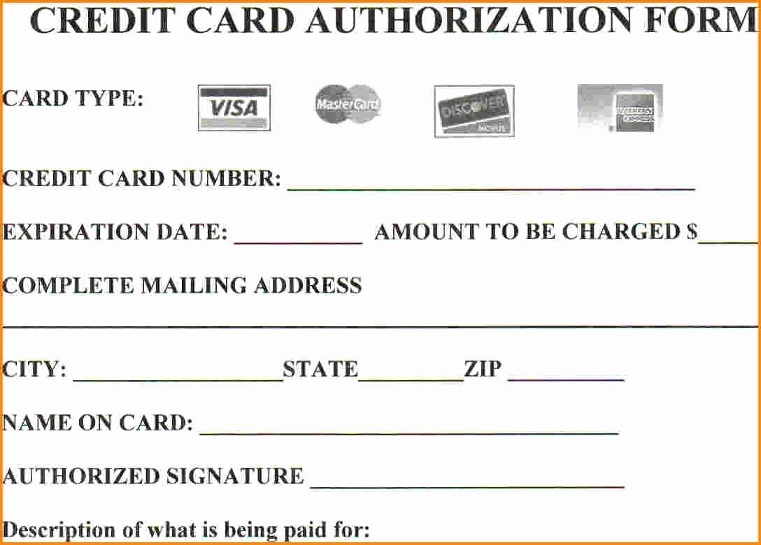 Credit Card Form Template Word Best Of 25 Credit Card Authorization Form Template Free In 2020 Credit Card Application Credit Card Application Form Credit Card Payment