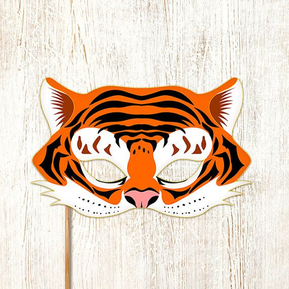 graphic relating to Tiger Mask Printable identify Tiger Mask Printable Animal Masks Childrens Get together PDF