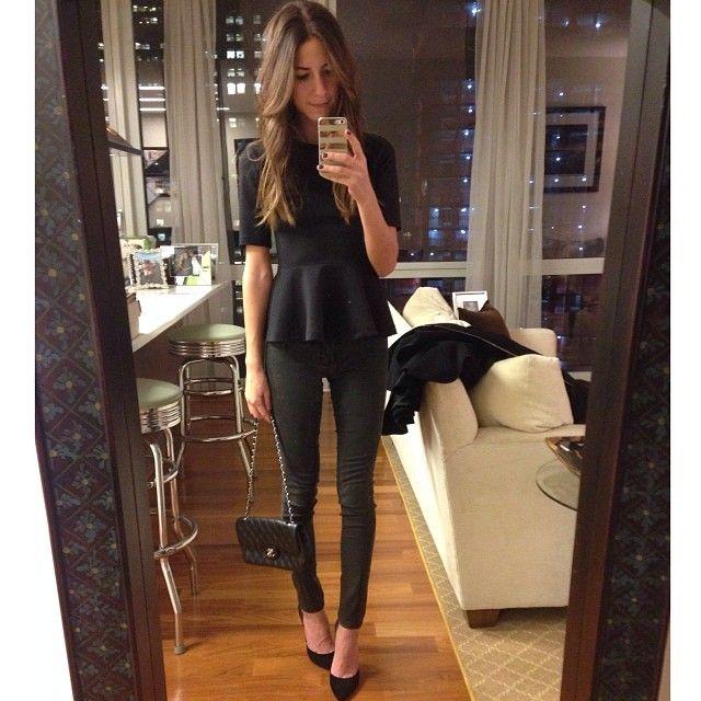 All black. #datenight #snmirrormoment - SomethingnAvy