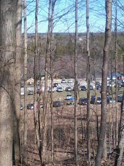 Parked Cars from the top of the Hill , Marmora, Ontario, Canada