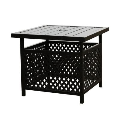 Small Patio Tables With Umbrellas Hole Decordip Com In 2020 Patio Table Umbrella Patio Side Table Outdoor Coffee Tables