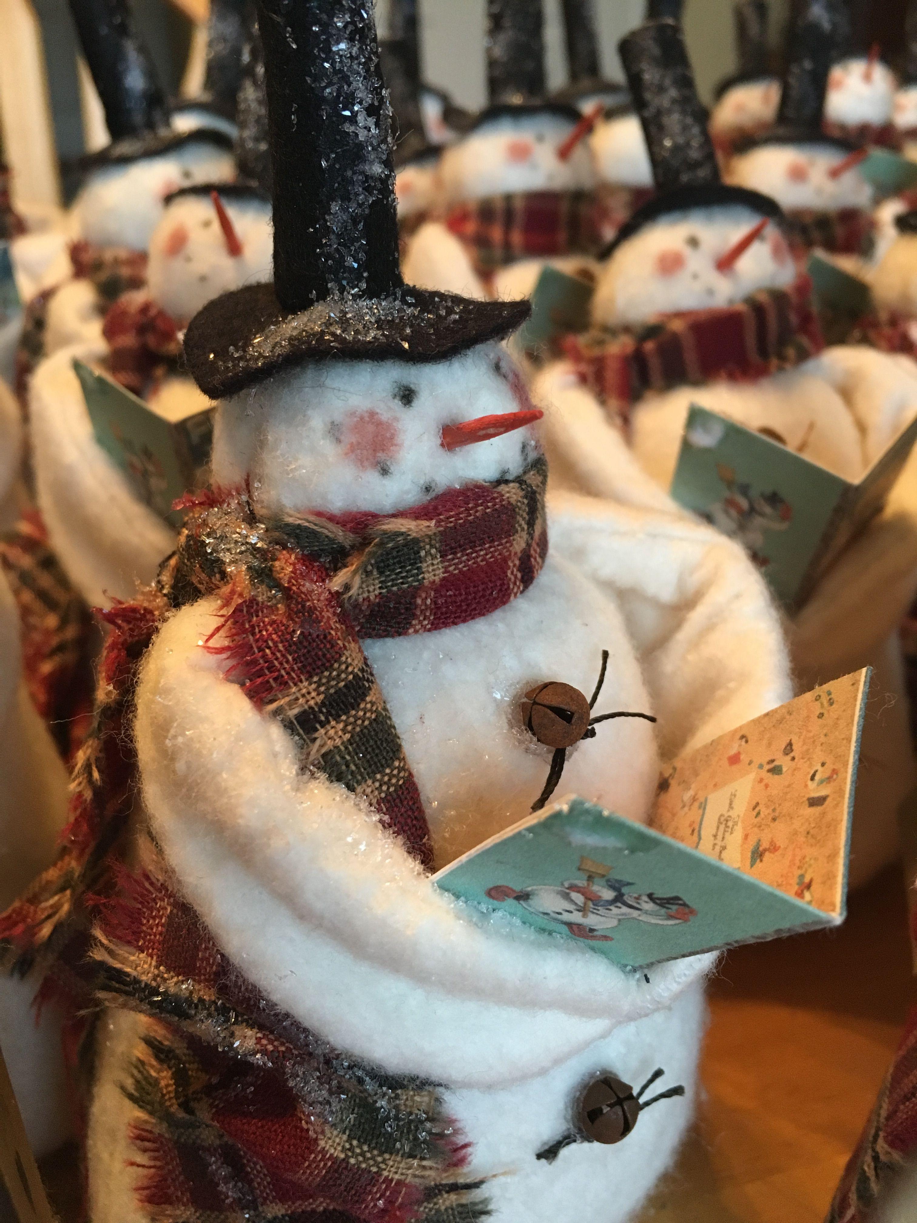 2018 Snowman Christmas ornaments