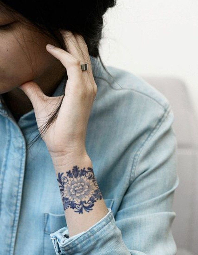 beautiful coloured tattoos from florals to geometric shapes