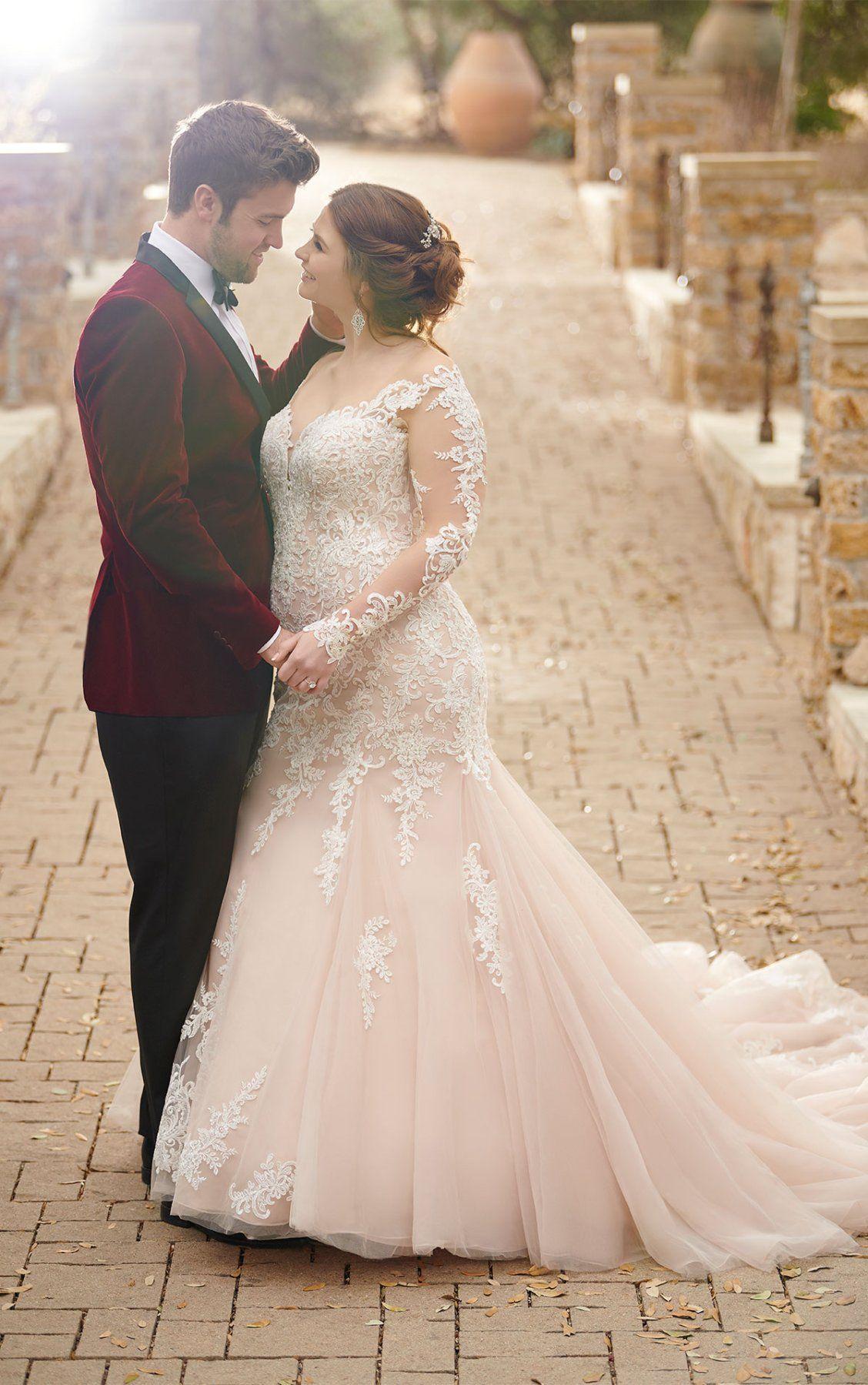Modern OfftheShoulder Wedding Gown Plus size wedding