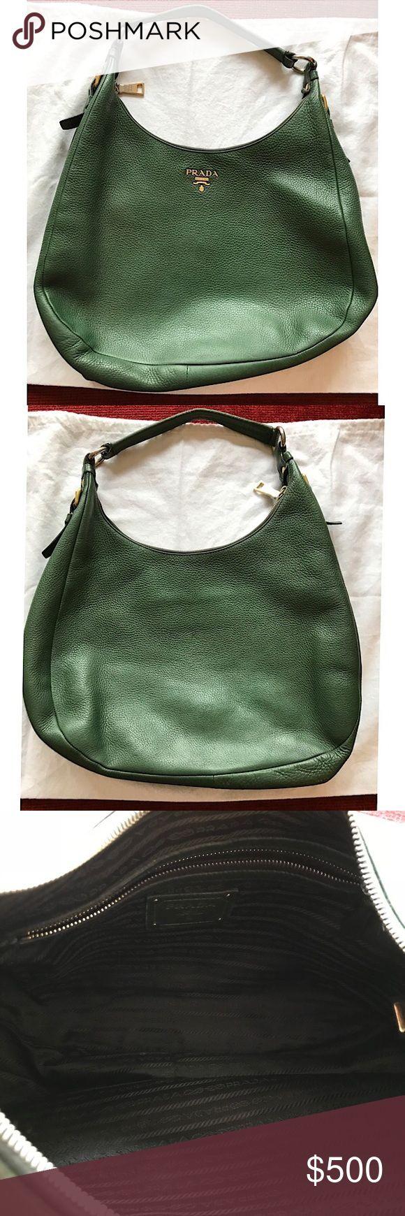 fbf6556eb1240 Prada Emerald Green Bag Wunderschöne smaragdgrüne Prada Tasche. Geräumig