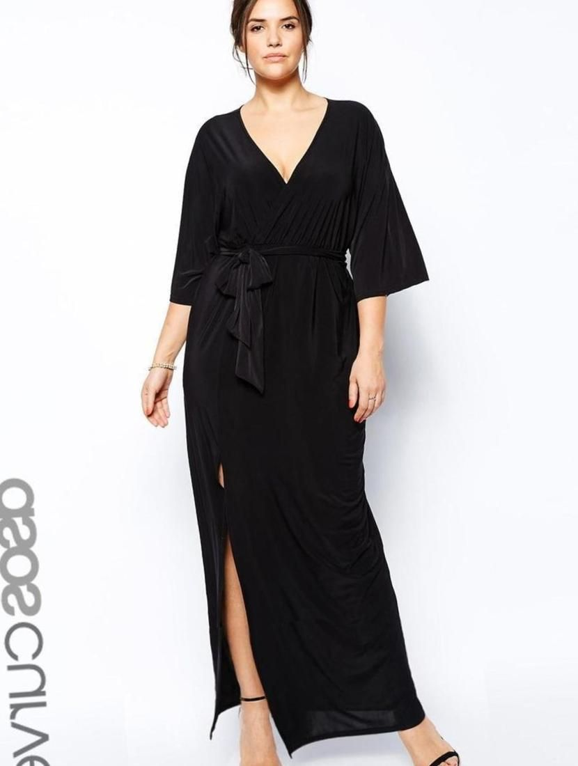da673443b355d Plus size kimono maxi dress - http   pluslook.eu fashion plus-size ...