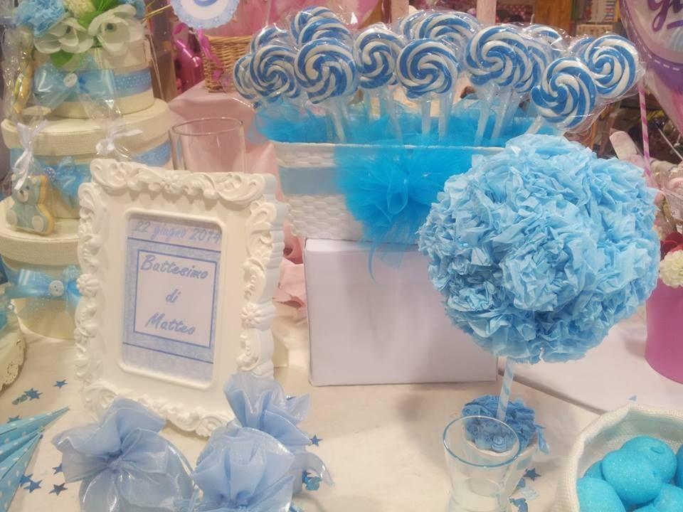 Allestimento per confettata celeste bimbo battesimo addobbi pinterest comunione battesimi - Decorazioni battesimo bimbo ...
