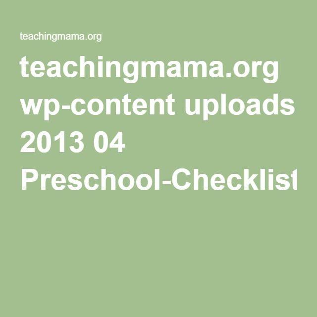 teachingmama.org wp-content uploads 2013 04 Preschool-Checklist1.pdf