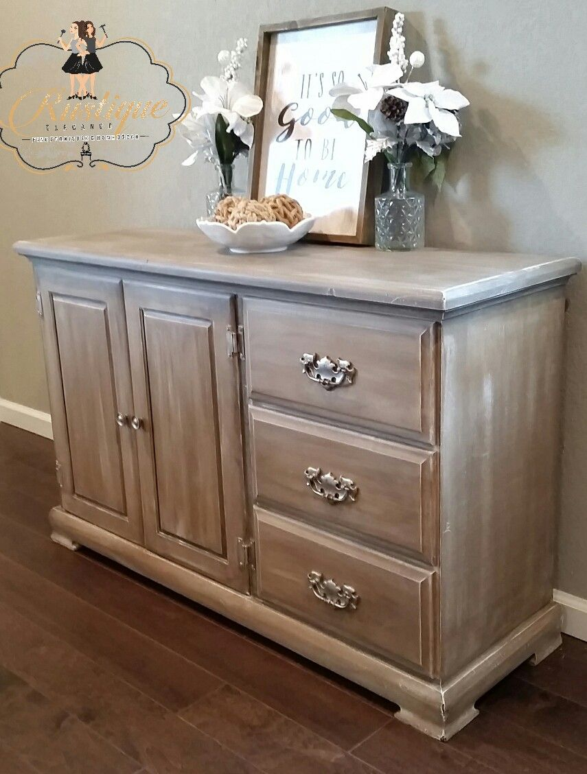 Outstanding Buffet Annie Sloan Coco With Old White Dry Brushing And Door Handles Collection Olytizonderlifede