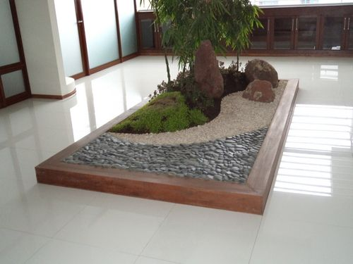 How to make a zen garden pinterest jardines zen zen y for Modelos de jardines interiores