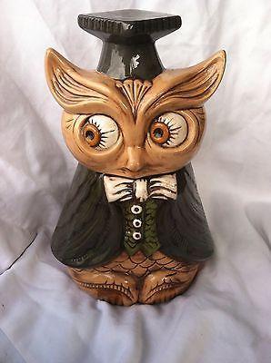Vintage Graduate Owl Cookie Jar